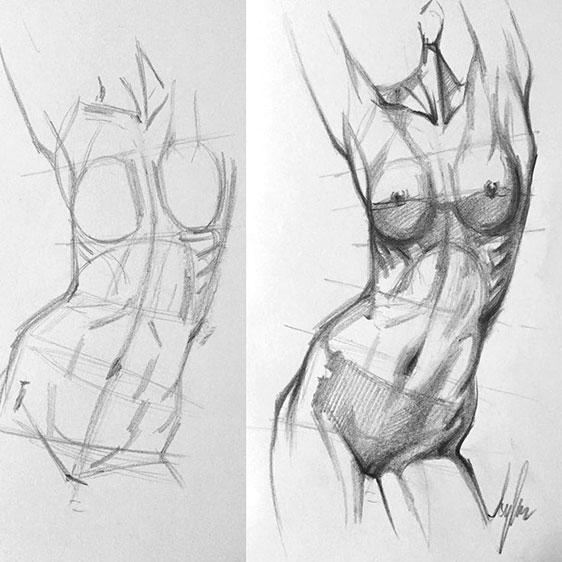 рисунки женских фигур карандашом начинем серию публикаций