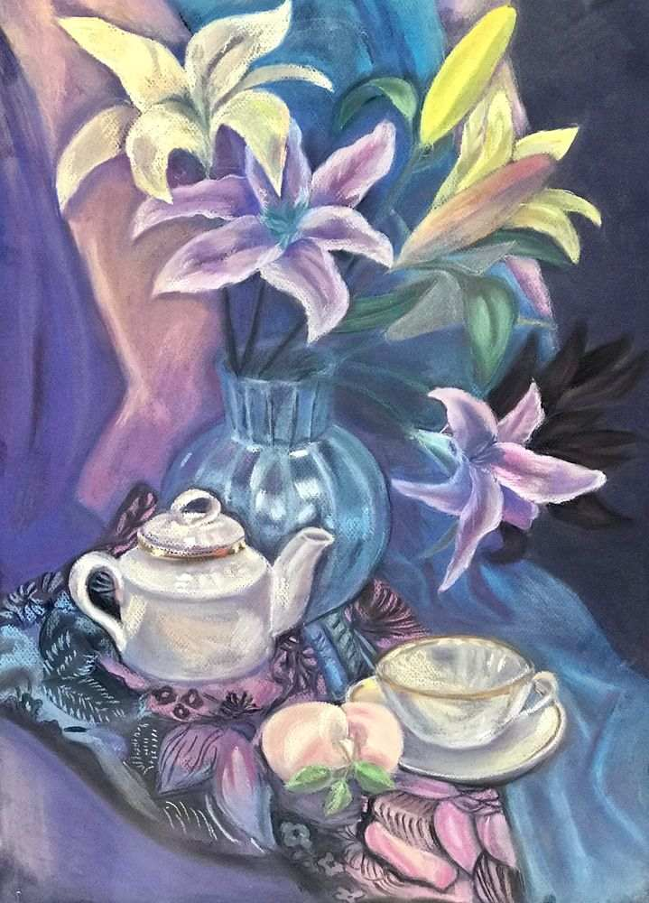 Картинки пастелью для чайников